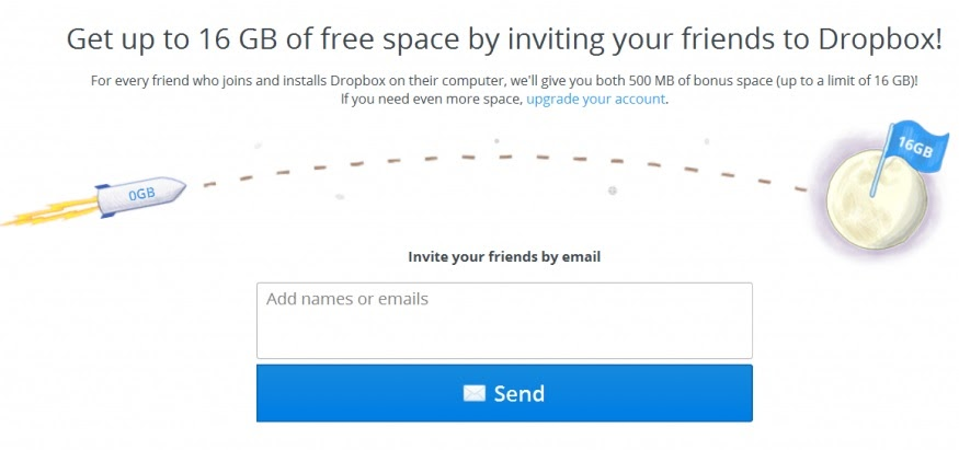 dropboxs email referral program