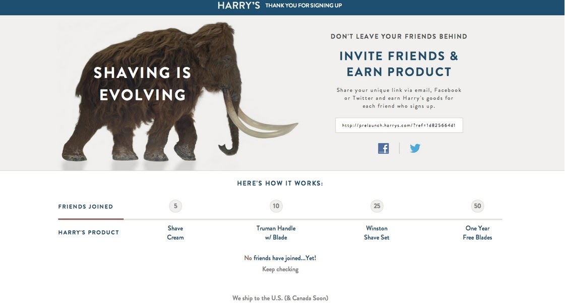 harrys incentive based referral program