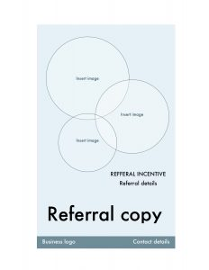 Referral program flyer template