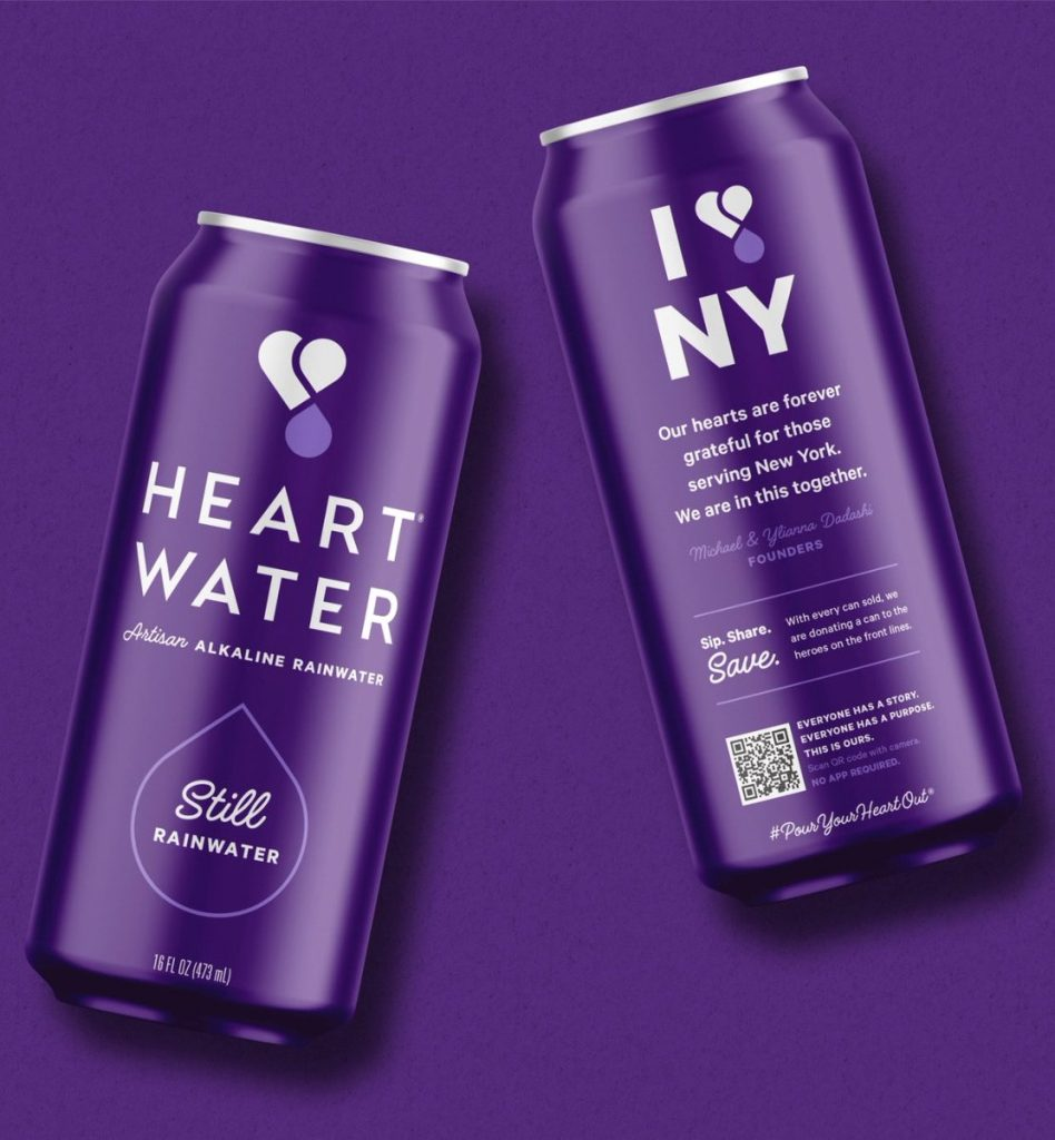 heart water purple branding