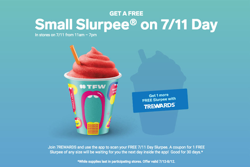 7 eleven free slurpee giveaway