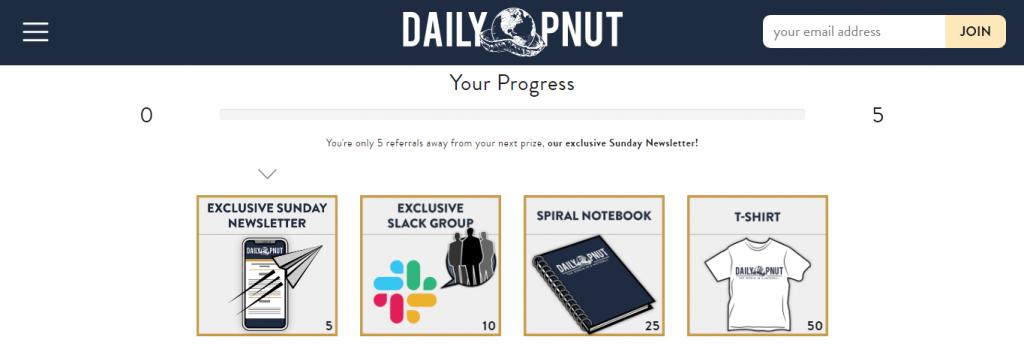 daily pnut referral rewards list