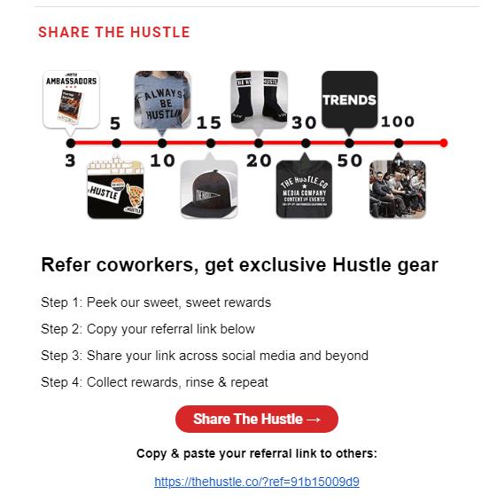 the hustle tiered referral rewards