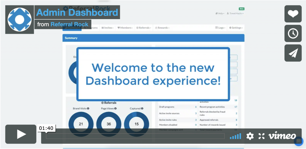 new homepage dashboard
