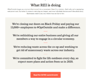 What REI is doing for the Opt Outside initiative