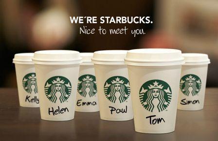 starbucks name on cup