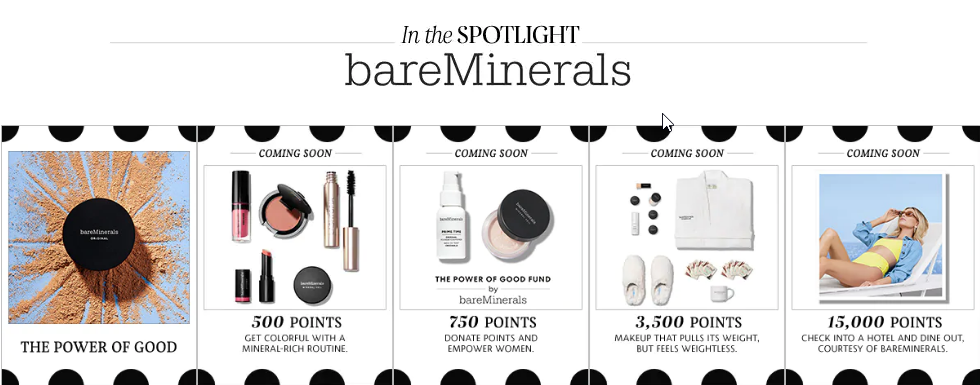 BareMinerals rewards