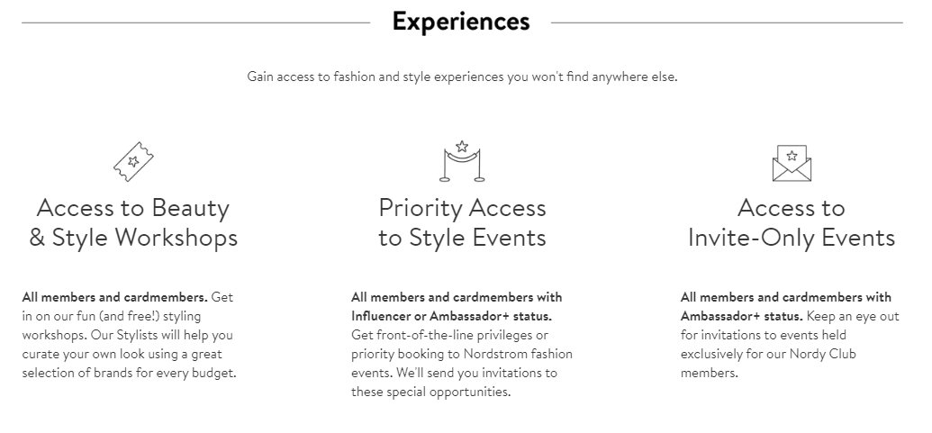 Nordstrom exclusive perks