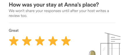 airbnb review system