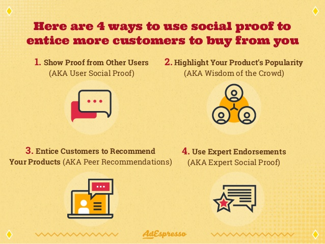ways to use social proof