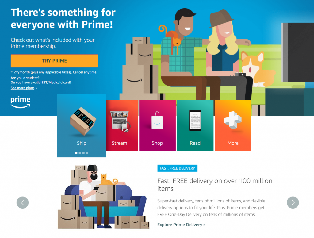 Amazon Prime is a pay-to-join loyalty program