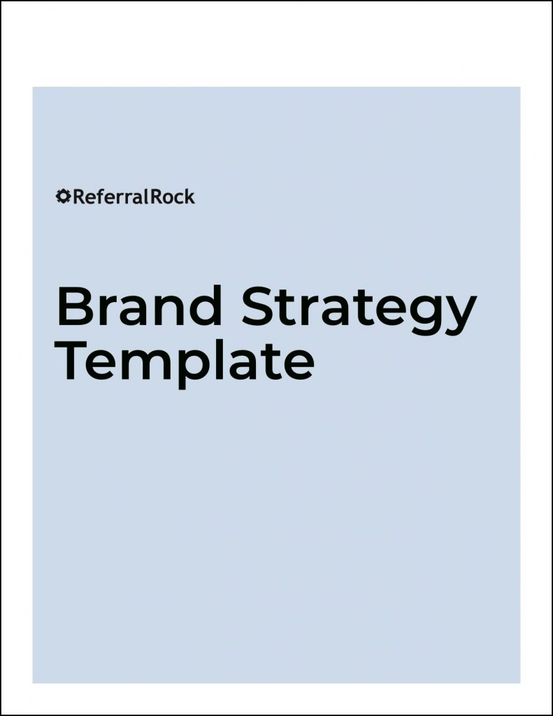brand strategy template image