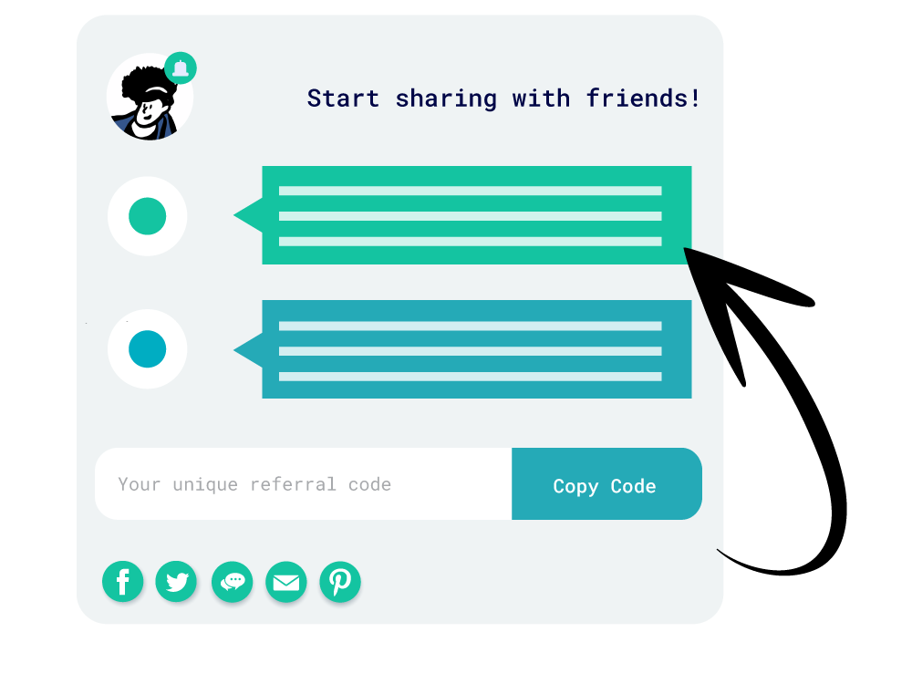 sharing-with-friends-arrow
